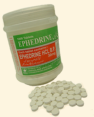 Ephedrine HCL 30mg by Unexo x 1000 Tablets - 24hrpharmaUSA.com